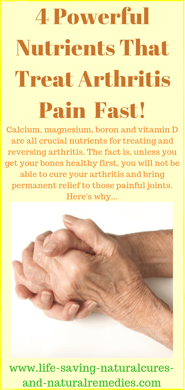 natural arthritis relief treatment
