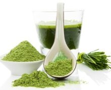 Wheat grass for treating rosacea