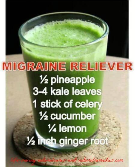 Migraine headache reliever drink