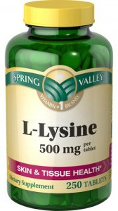 Lysine for cold sores and fever blisters