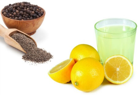Lemon black pepper weight loss remedy