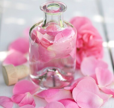Rosewater for youthful skin