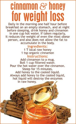 Cinnamon honey weight loss remedy